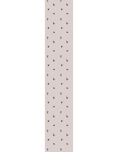 Papier peint enfant,Papier peint chat: pelotes grises