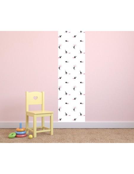 Papier peint enfant,Papier peint chat: pelotes blanches