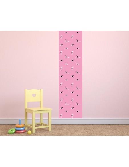 Papier peint enfant,Papier peint chat: pelotes roses
