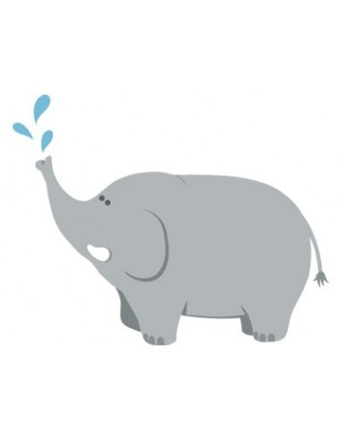 Stickers Jungle & Savane,Sticker déco enfant: Elephant eau