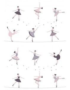 Papier peint enfant,Papier peint enfant: Danseuses