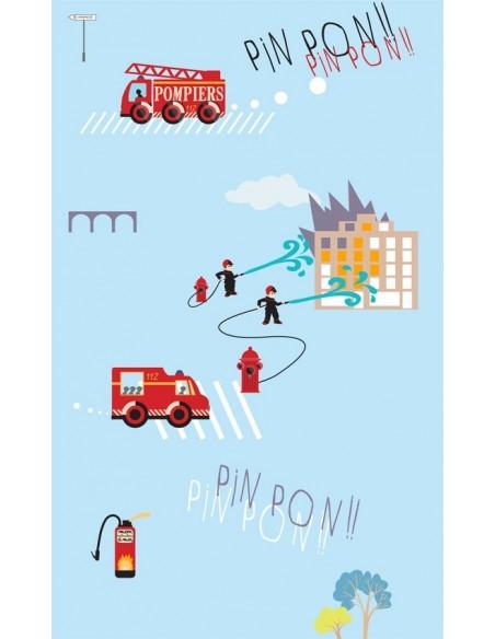 Papier peint enfant,Papier peint enfant: Pompiers