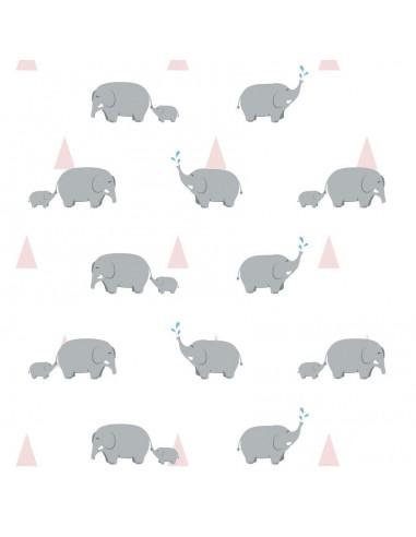 Papier peint enfant,Papier peint enfant: Éléphants