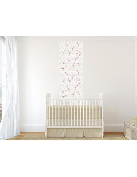 Papier peint enfant,Papier peint enfant: Flamants Roses