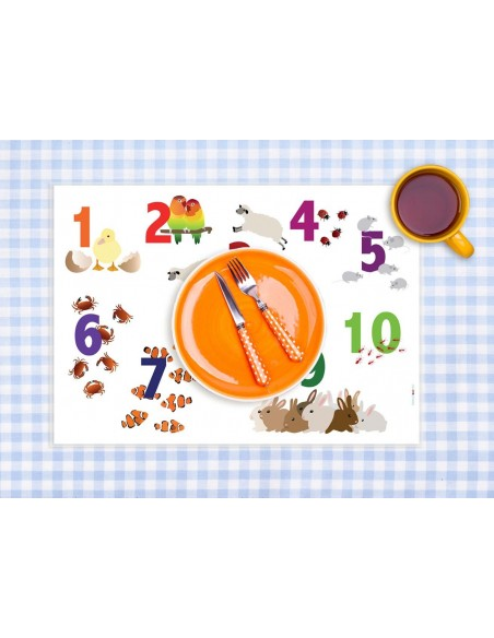 Set de table,Set de table enfant: Chiffres