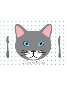 Set de Table Enfant : Chat