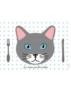 Set de table,Set de Table Enfant: Chat