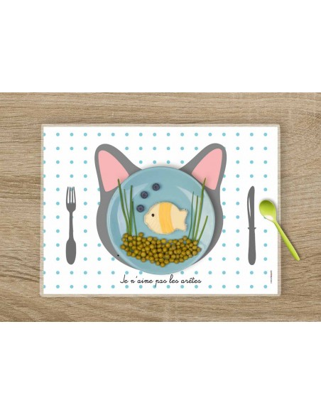 Set de table,Set de Table Enfant: Chat