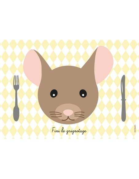 Set de table,Set de Table Enfant: Souris
