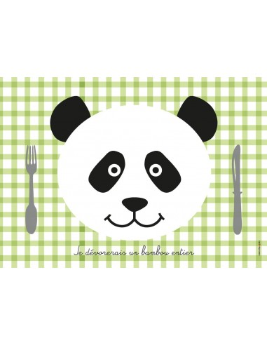 Set de table,Set de Table Enfant: Panda
