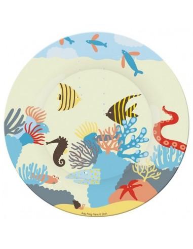 Vaisselle,Assiette enfant: Corail