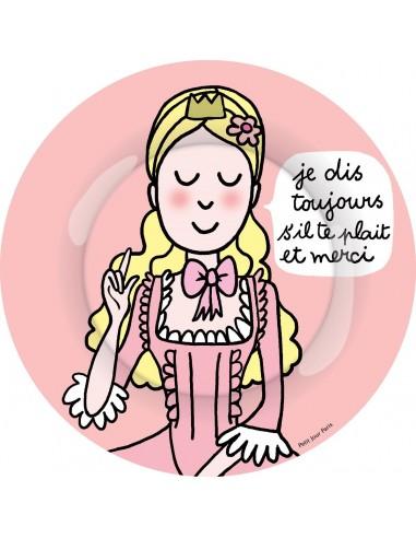 """Vaisselle,Assiette enfant: Princesse """"je dis toujours..."""""""