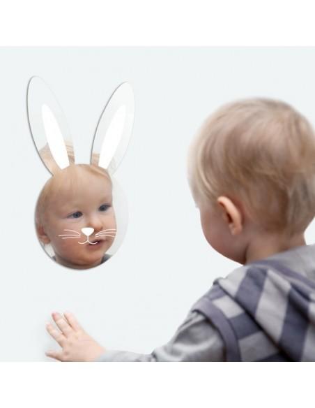 Miroir enfant,Miroir enfant: Tête de Lapin