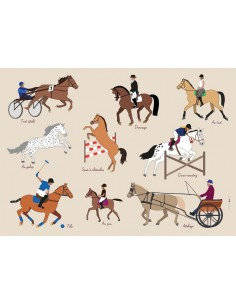 Set de table,Set De Table Enfant: Equitation