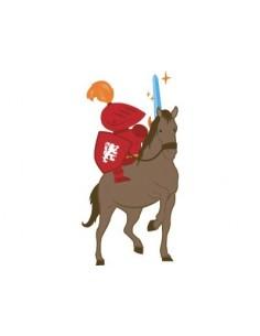 Stickers Chevalier,Stickers: Chevalier sur son cheval