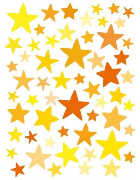 Stickers Graphiques,Stickers muraux: Etoiles jaunes