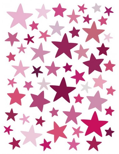 Stickers Graphiques,Stickers muraux: Etoiles roses