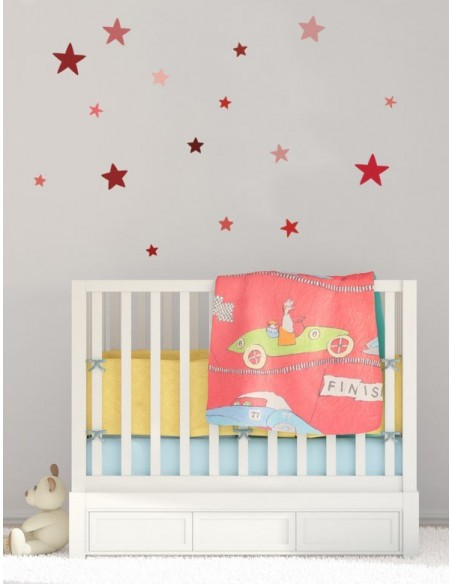 Stickers Graphiques,Stickers muraux: Etoiles rouges