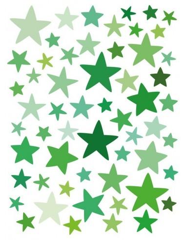 Stickers Graphiques,Stickers muraux: Etoiles vertes