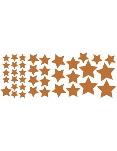 Stickers Graphiques,Stickers muraux: Etoiles bronze