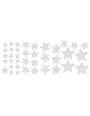 Stickers Graphiques,Stickers muraux: Etoiles argent