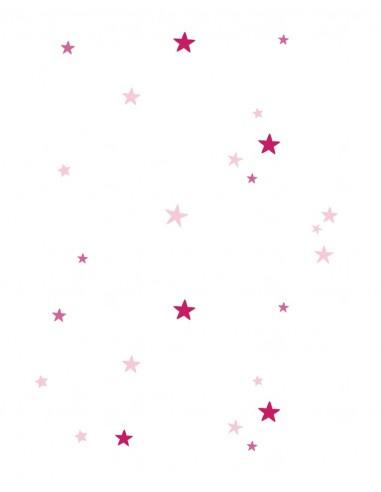 Rideau Enfant : Etoiles roses