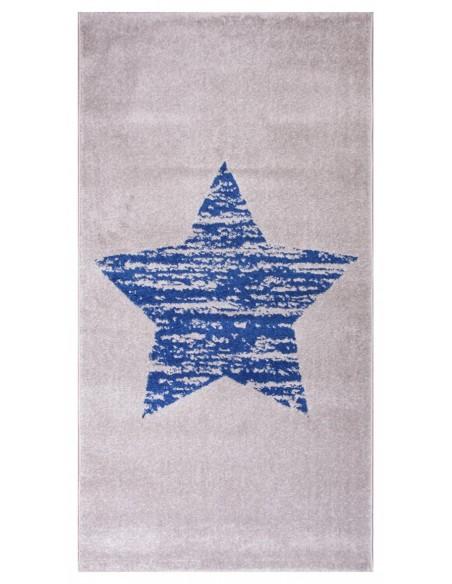 Tapis étoile,Tapis Enfant: Lucero Bleu