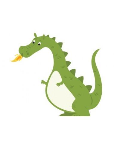 Stickers Chevalier,Stickers garçons: Dragon Vert