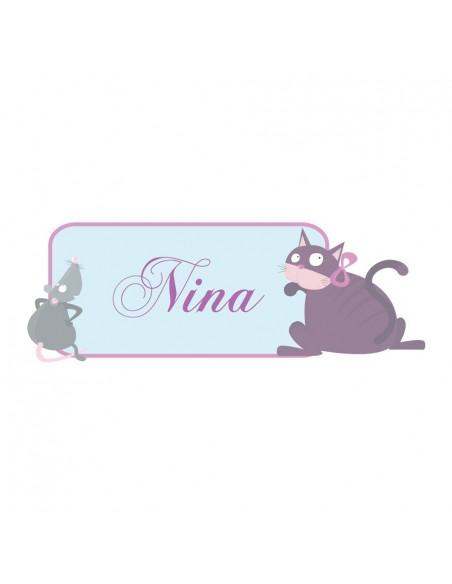 Stickers Prénom,Sticker Prénom: Animaux princesse