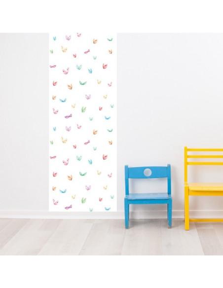 Papier peint enfant,Papier peint enfant: Papillons Aquarelle