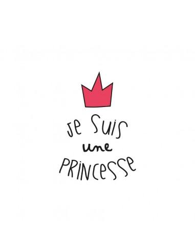 Stickers Fée & Princesse,Sticker Enfant: Je suis une princesse