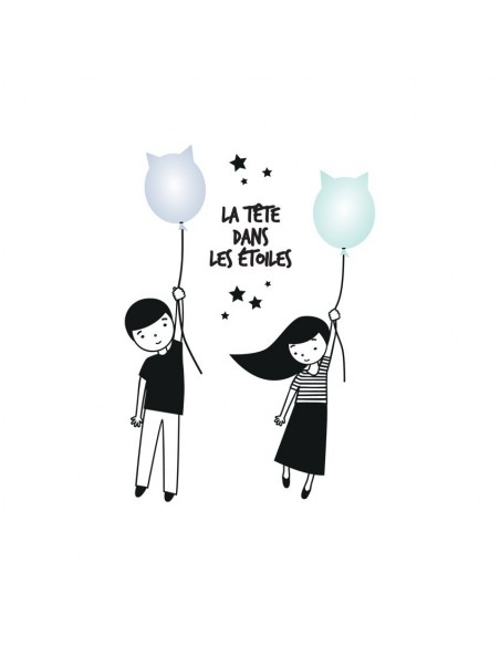 Stickers Bébé,Sticker enfant: La tête dans les étoiles