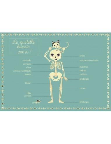 Set de table,Set De Table Enfant: Squelette