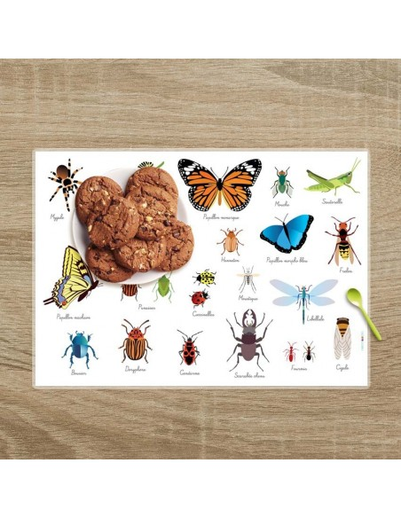 Set de table,Set De Table Enfant: Insectes