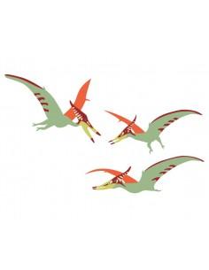 Stickers Dinosaures,Stickers Dinosaure: 3 ptéranodons