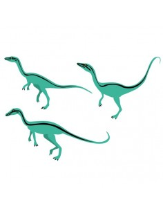 Stickers Dinosaures,Stickers enfant: 3 compsognathus