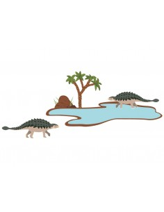Stickers Dinosaures,Stickers enfant: 2 ankylosaures