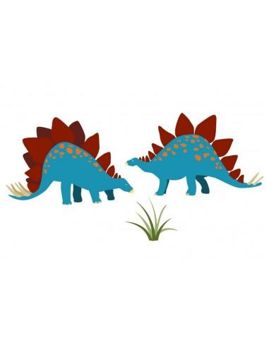 Stickers Dinosaures,Stickers dinosaure: 2 stégosaures
