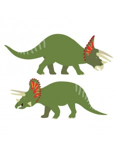 Stickers Dinosaures,Stickers Dinosaures: 2 tricératops