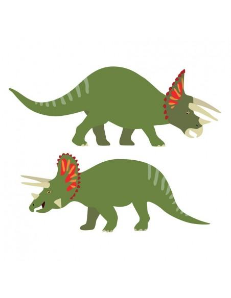 Stickers Dinosaures,Stickers Dinosaures: 2 tricératops