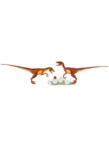 Stickers Dinosaures,Stickers enfant: Vélociraptors et leurs
