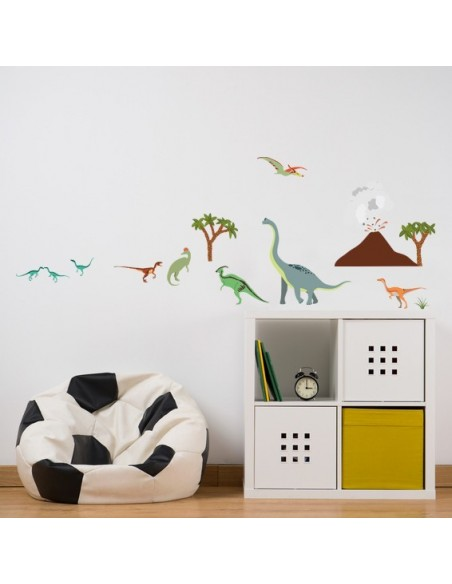 Stickers Dinosaures,Stickers enfant: Petite frise dinosaures