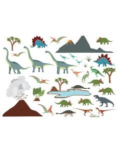 Stickers Dinosaures,Stickers enfant: Grande frise dinosaures