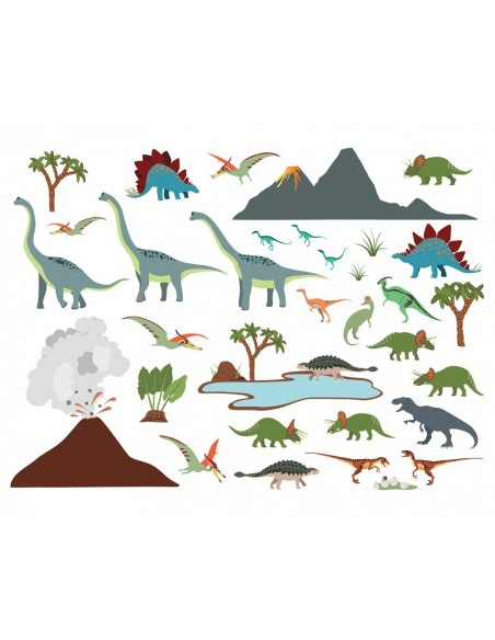 Stickers Dinosaures,Stickers enfant: Grande frise dinosaures
