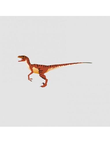 Stickers Dinosaures,Sticker enfant: Vélociraptor