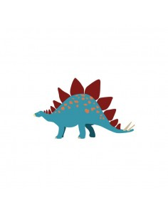 Stickers Dinosaures,Sticker Dinosaures: Stégosaure