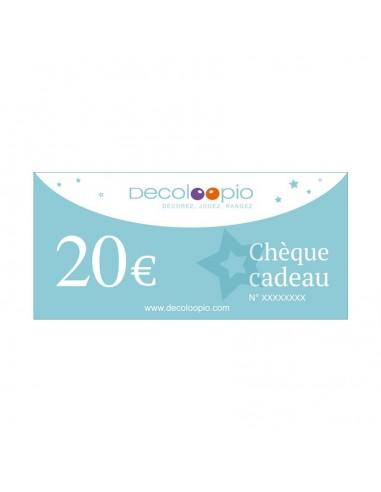Cartes cadeaux,Chèque cadeau Decoloopio 20€