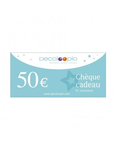 Cartes cadeaux,Chèque cadeau Decoloopio 50€