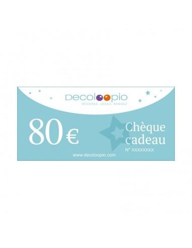Cartes cadeaux,Chèque cadeau Decoloopio 80€