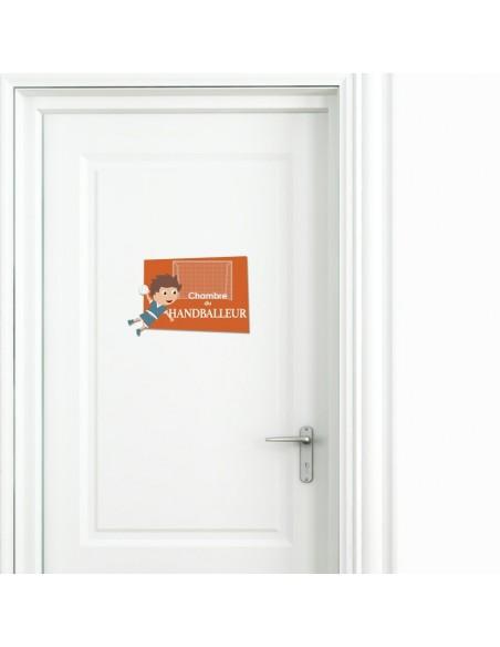 Plaques de porte,Plaque de porte: Handballeur